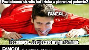 Robert Lewandowski strzelił hat tricka - zobaczcie memy