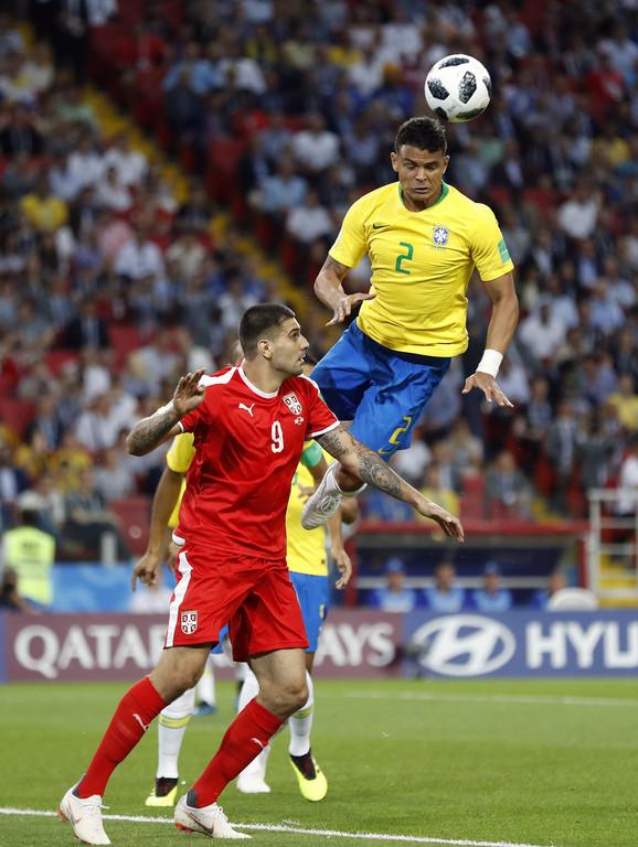 Tijago Silva na meču sa