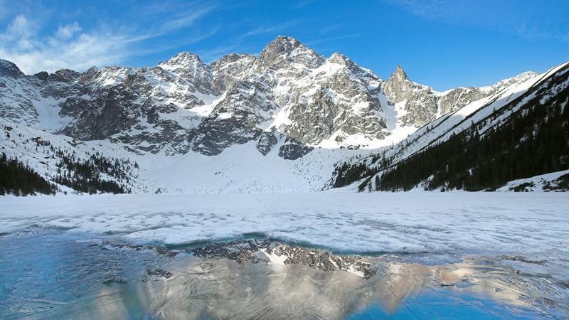 Znalezione obrazy dla zapytania morskie oko zimą