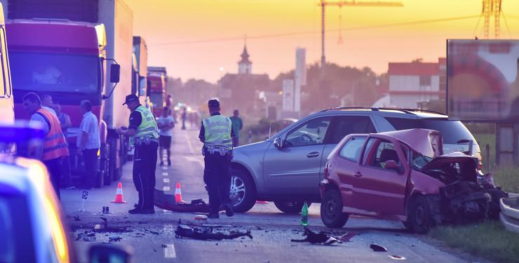 Novi Sad124 saobracajna nesreca udes na putu Rumenackom putu foto Nenad MIhajlovic