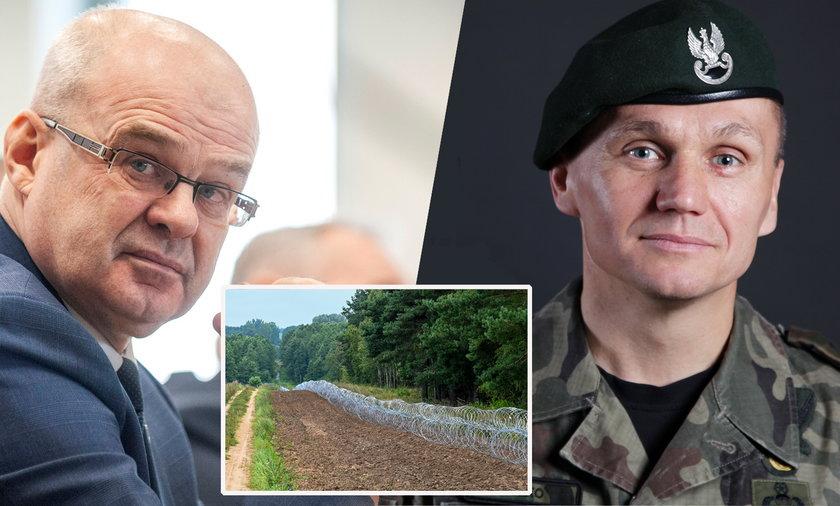 Gen Waldemar Skrzypczak i gen. Roman Polko krytykują płot postawiony na granicy z Białorusią.