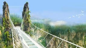 Rekordowy szklany most wiszący w Parku Narodowym Zhangjiajie