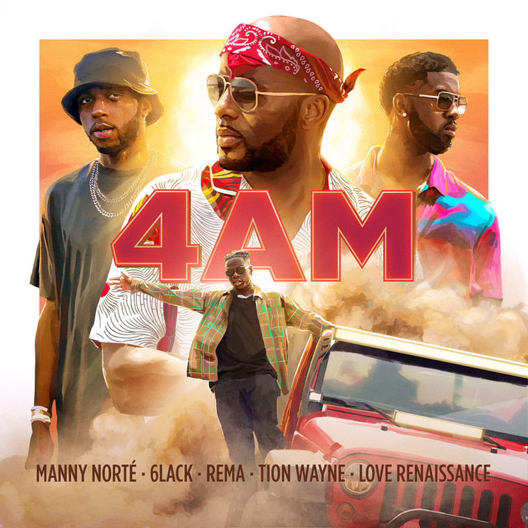 "LVRN's 6lack features on Manny Norte's hot new track, ""4am"", alongside Rema & Tion Wayne"