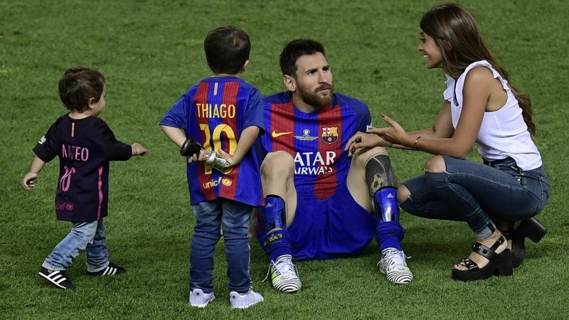 Lionel Messi z rodziną