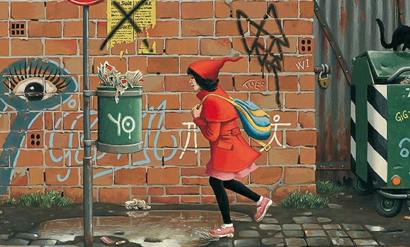 Czerwony kapturek - tramwaj dla dzieci
