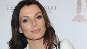 Piękna Katarzyna Glinka na premierze w Teatrze Kwadrat