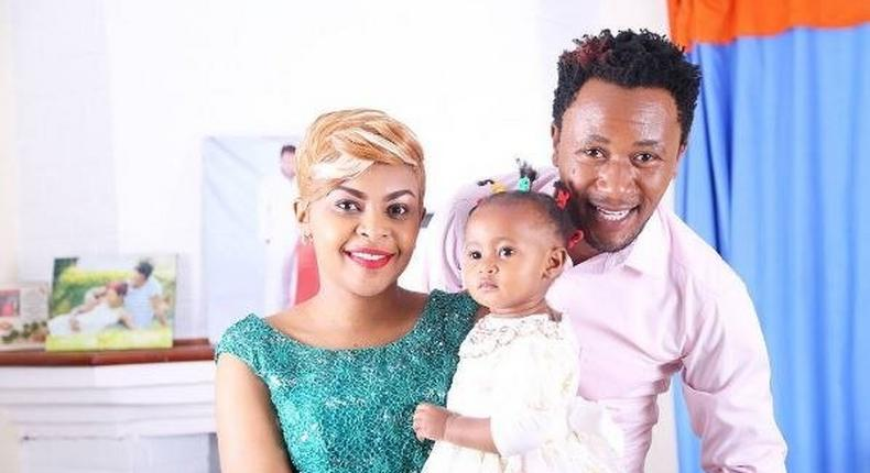Dj Mo, Size 8 and their baby daughter Ladasha.