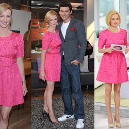 Gwiazdy telewizji śniadaniowych w takiej samej sukience