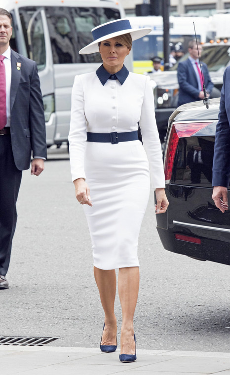 Melania Trump during her visit to the UK in 2019.