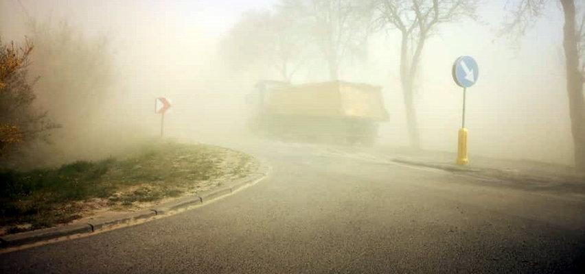 Burza piaskowa w Wielkopolsce. Przerażające nagranie!