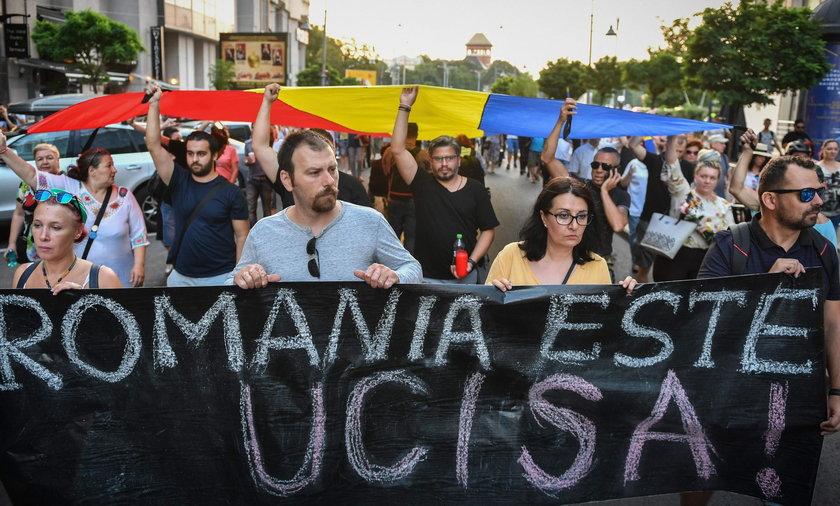 protesty antyrządowe po śmierci dziecka w Rumuni