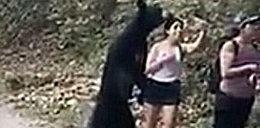 """Niedźwiedź zainteresował się turystką. Odszedł dopiero po """"selfie"""""""