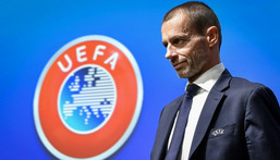 Ceferin said the away goals rule nowadays actually discouraged home teams from attacking, especially in the first leg Creator: Fabrice COFFRINI