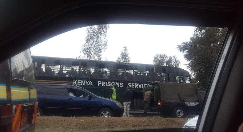 14 prisoners escape while being transported from Thika to Industrial Area Remand Prison, Nairobi