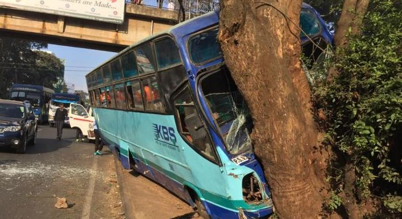 KBS Bus involved in an accident along Valley Road