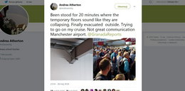 Pękające ściany lotniska! Pasażerowie uciekali w panice