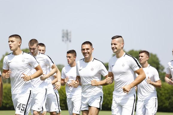 Detalj sa priprema fudbalera Partizana