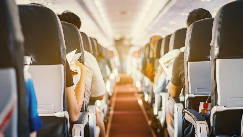 Na pokładzie samolotu (zdjęcie ilustracyjne)