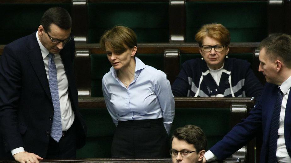 (od lewej) Mateusz Morawiecki i Jadwiga Emilewicz