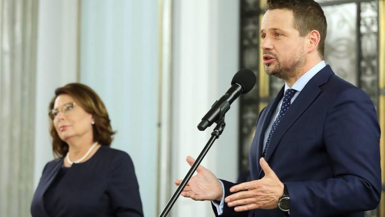 Rafał Trzaskowski i Małgorzata Kidawa-Błońska