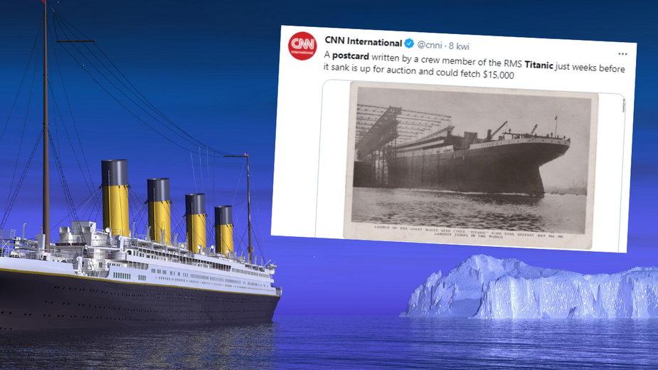 Pocztówka wysłana przez starszego radiooperatora Titanica wystawiona na aukcję