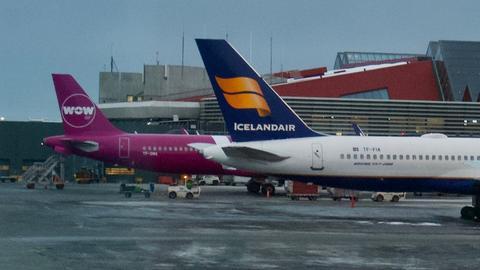 WOW Air i Icelandair to dwaj międzynarodowi przewoźnicy z Islandii