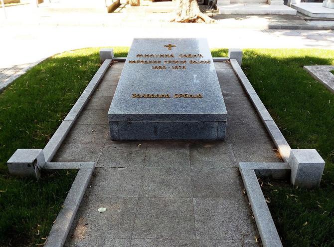 Grob srpske heroine u Aleji velikana na Novom groblju u Beogradu