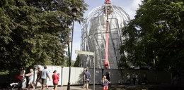Nowa palmiarnia nadal w budowie