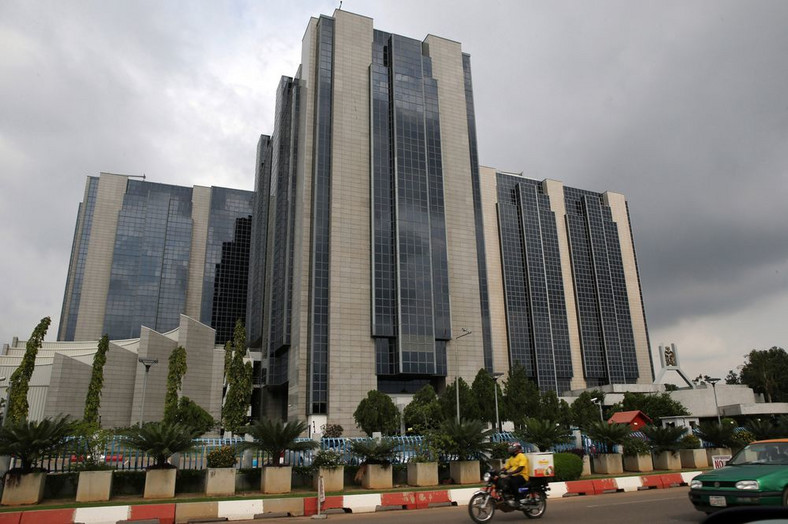 The headquarters of the Nigerian central bank stands in Abuja, Nigeria.