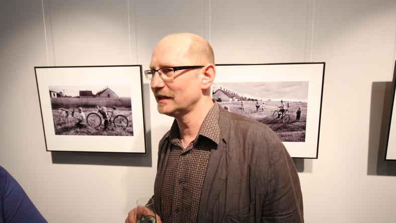 Bogdan Frymorgen podczas wystawy w 2009 roku w Bielsku