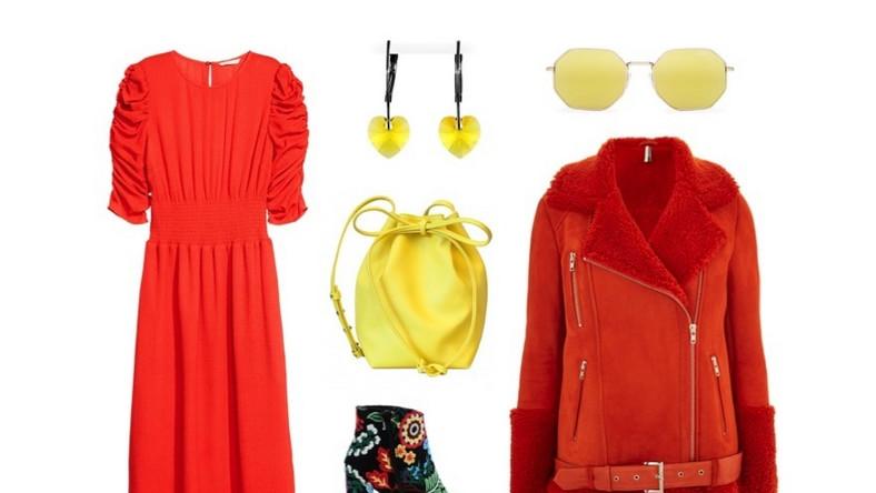 Kurtka: Topshop; sukienka: H&M; okulary: Quay; kolczyki: Pakamera.pl; torba: Showroom.pl; buty: Primamoda.