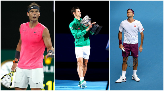 Rafael Nadal, Novak Đoković i Rodžer Federer