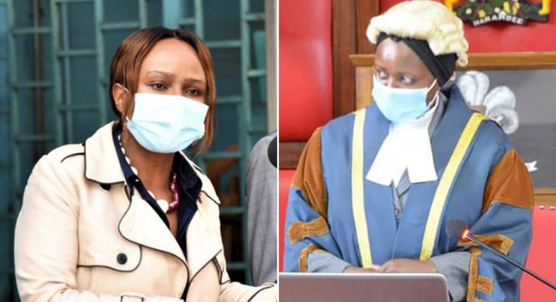 Health CAS Mercy Mwangangi and her mother, Machakos Speaker Florence Muoki Mwangangi