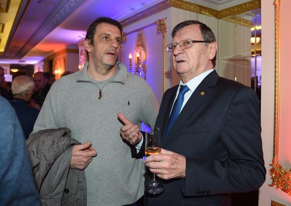 Prvi čovek srpskog vaterpola Viktor Jelenić i predsednik evropske kuće odbojke (CEV) Aleksandar Boričić