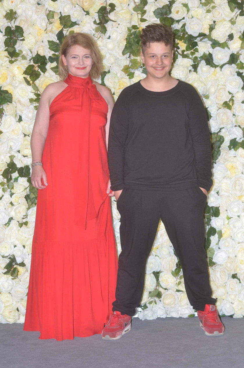 Dominika Ostałowska z synem