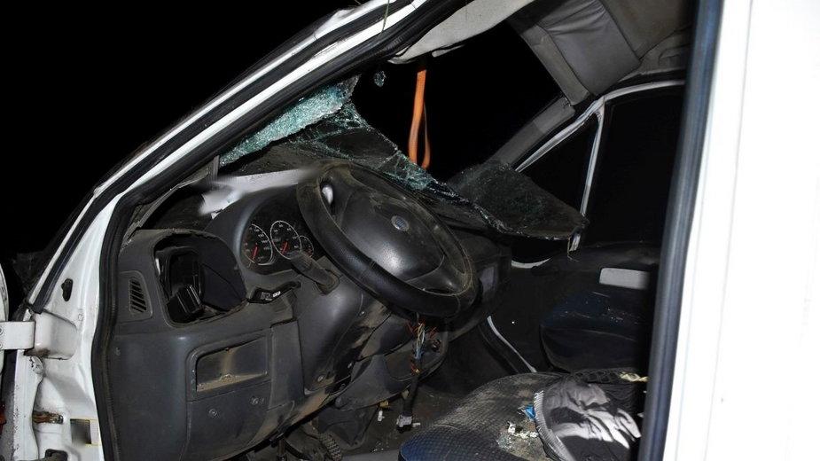 Bus, który uczestniczył w wypadku