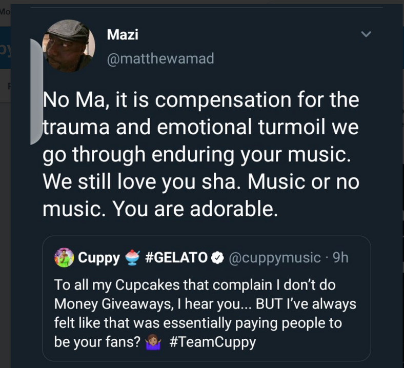 We should leave DJ Cuppy alone