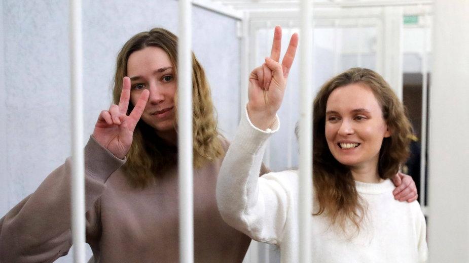 Proces dziennikarek Biełsatu w Mińsku