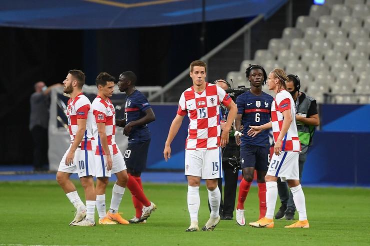 Detalj sa meča Hrvatske i Francuske