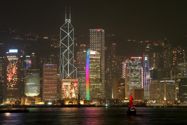 Hongkong nocą. 24.01.2011.