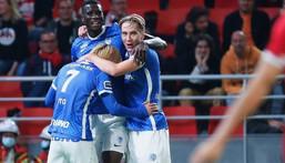 Two goals for Paul Onuachu in Genk's loss away at home (Instagram/Genk)