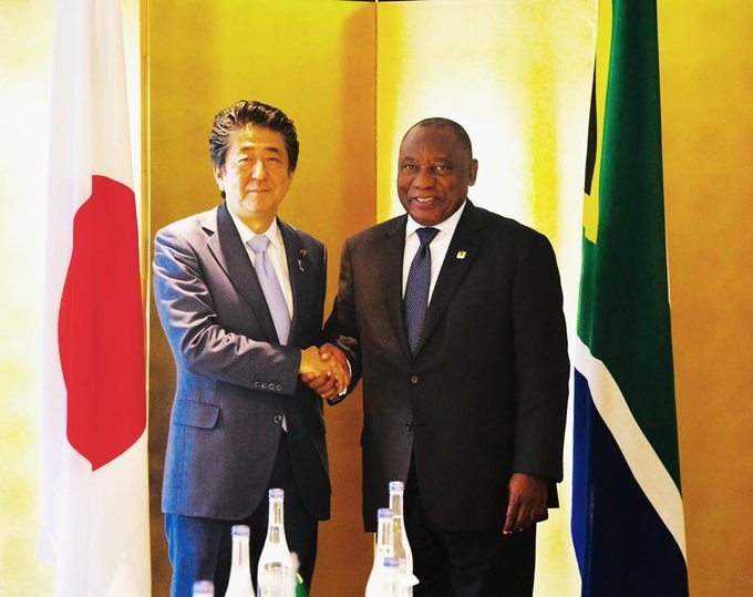 Cyril Ramaphosa held bilateral discussions with Prime Minister of Japan, HE Shinzō Abe