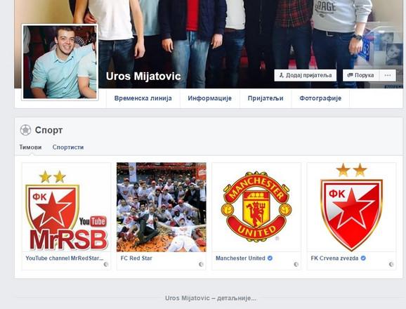 Fejsbuk Uroša Mijatovića i stranice koje je