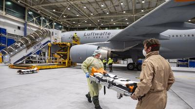 A peek inside the the world's most modern flying hospital - the Airbus A310 MRT MedEvac - Germany has sent to airlift coronavirus patients