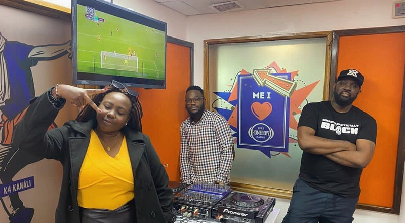 Comedian Chebet Ronoh makes radio comeback as Homeboyz poaches Capital FM's Neville (Photos)