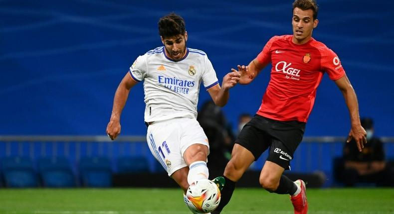 Marco Asensio scored a hat-trick as Real Madrid thrashed Mallorca in La Liga on Wednesday. Creator: GABRIEL BOUYS