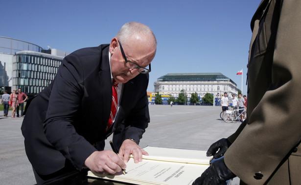 Frans Timmermans w Warszawie