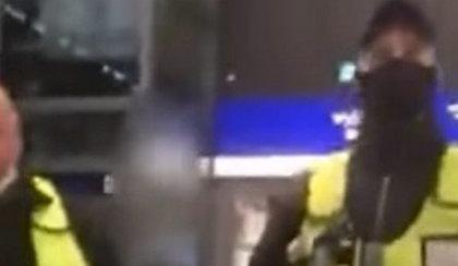 Skandal na Dworcu Centralnym. Ochroniarz do pasażera: wypie...lę cię przez antresolę! FILM