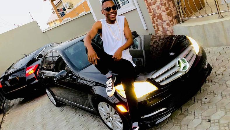 Nigerians love cars. Here is pop singer Mr 2 Kay with his Mercedes Benz. The German brand has seen a resurgence of late as more middle class Nigerians are opting to buy more of its models as a statement of status (Instagram/Mr 2 Kay)