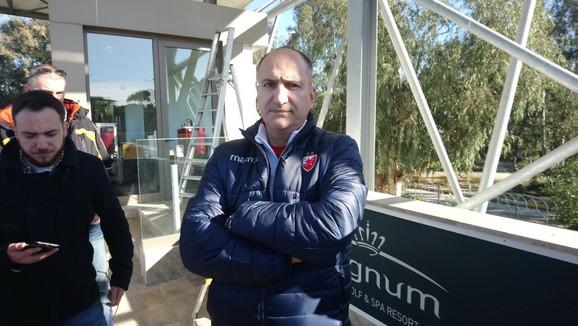 Mitar Mrkela na pripremama Zvezde u Turskoj